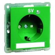 NOVA wcd met insteekcontacten, ra, groenmet kinderbev D 20.6511.422 LED/4 SV