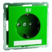 NOVA wcd met schroefcontacten, groen met tekstveld en opdruk SV D 20.6611.422 NA SV