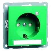 NOVA wcd, insteekcontacten en randaarde LED, groen D 20.6511.422 LED/4