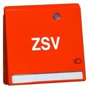 NOVA wcd, insteekcontacten, ra, oranje kinderbev., tekstveld, LED, opd D 20.6511.332 LED/4 NAZSV
