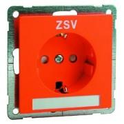 NOVA wcd met schroefcontacten, oranje met tekstveld en opdruk ZSV D 20.6611.332 NA ZSV