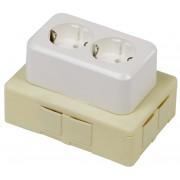 Flexbox lasdoos inclusief deksel + WCD en 4 inserts creme