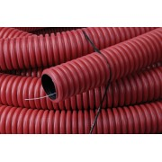 Kabelflex flexibele buis rood 50mm x 50m inclusief nylon trekkoo