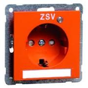 NOVA wcd, insteekcontacten en randaarde LED, tekstveld, oranje D 20.6511.332 LED/4 NA